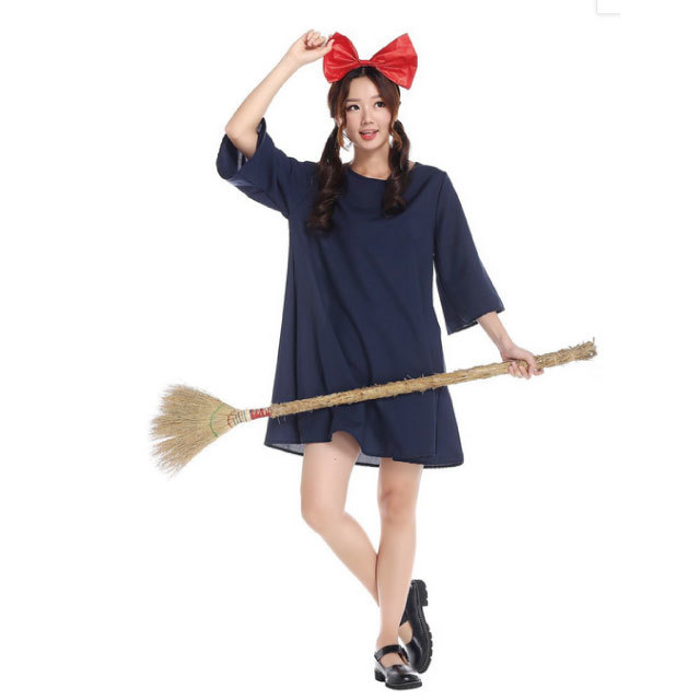 Kiki's Delivery Service Kiki costume play musical drama witch kid dress  adult costume witch witch's house Halloween party clothes disguise