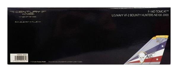 【中古】センチュリーウイングス 1/72 F-14D トムキャット アメリカ海軍 VF-2 バウンティハンターズ NE100 2003年