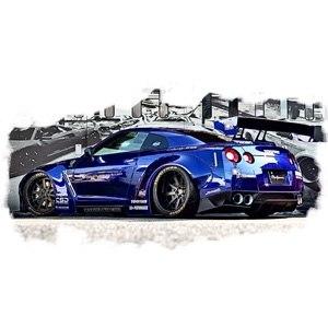 【中古】アイドロン 1/43 LB WORKS R35 GT-R / LB PERFORMANCE 20in. Wheel メタリックブルー メイクアップ