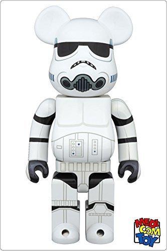 【中古】medicom toy BEARBRICK STAR WARS STORMTROOPER(TM) CHROME Ver.400 メディコム・トイ ベアブリック スターウォーズ ストームトルーパー (400%)