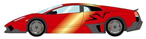【中古】メイクアップ EIDOLON 1/43 ランボルギーニ ムルシエラゴ LP670-4 SV ダックテイルバージョン キャンディレッド/ラージ「SV」ロゴ ブラック 完成品