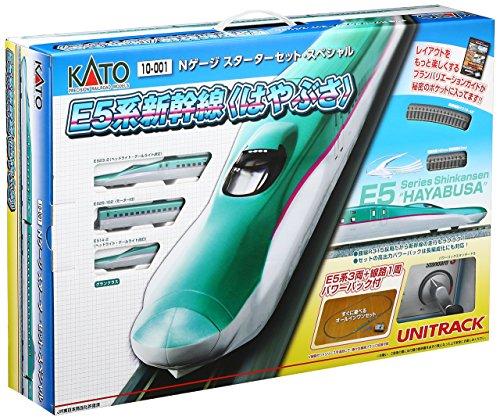 【中古】KATO Nゲージ スターターセットスペシャル E5系 新幹線 はやぶさ 10-001 鉄道模型入門セット