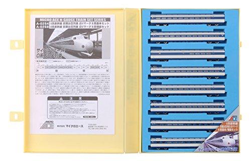 【中古】マイクロエース Nゲージ 0系新幹線 初期お召列車 白Vマーク8両増結セット A0258 鉄道模型 電車
