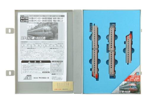 【中古】マイクロエース Nゲージ 小田急ロマンスカー3000形 改造後 増結5両セット A2155 鉄道模型 電車