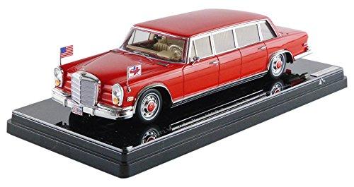 【中古】TSM MODEL 1/43 メルセデス ベンツ 600 プルマン 1972 Red Baron ヒルトン ファミリー