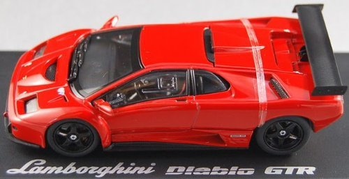 【中古】京商 1/43 ランボルギーニ ディアブロ GT-R レッド K03215R 完成品