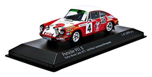 【中古】☆ ミニチャンプス 1/43 ポルシェ 911 S SEB 1972 モンテカルロ ラリー 2位 #4 G.ラルース/C.ペラモンド