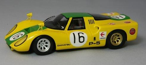 【中古】エムエムピー 1/43 DAIHATSU P-5 1968 Japan GP No16 完成品