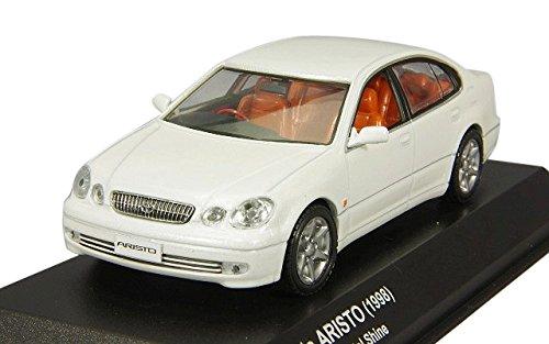 【中古】京商オリジナル 1/43 トヨタ アリスト V300 1998 ホワイトパールクリスタルシャイン 完成品