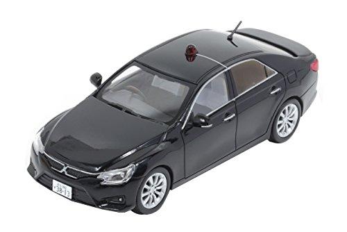 【中古】ヒコセブン RAI'S 1/43 トヨタ マークX 250G (GRX130) 2014 警視庁所轄署捜査指揮車両 黒 完成品