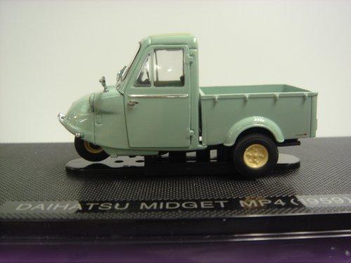 【中古】エブロ 1/43 ダイハツ ミゼット MP4 3輪トラック 1959グリーン 完成品