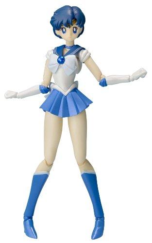 【中古】S.H.フィギュアーツ 美少女戦士セーラームーン セーラーマーキュリー 約140mm PVC&ABS製 塗装済み可動フィギュア