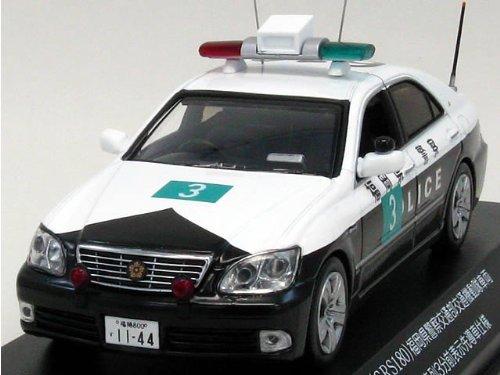 【中古】【RAI'S/レイズ】1/43 クラウン 2008 福岡県警察交通機動隊 日中韓首脳会議車列3分前表示先導車