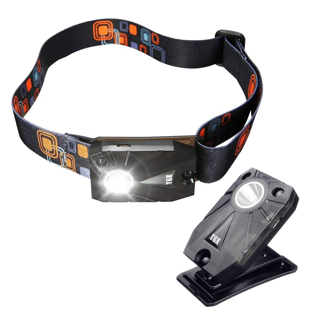 手の動きを感知してON 激安通販専門店 OFF 1着でも送料無料 照度変更可能なLEDヘッドライト 夜間作業に最適 LED ヘッドライト モーションセンサー ジェスチャーセンサー USB充電式 夜釣り キャンプ 定形外郵便 アウトドア 自転車 夜間作業 FAM-T-6X 360度角度調整