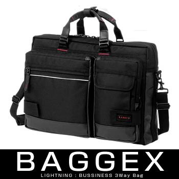 BAGGEX LIGHTNING 23-5514バジェックス ライトニングシリーズ3WAY ビジネスブリーフケース シングルタイプ