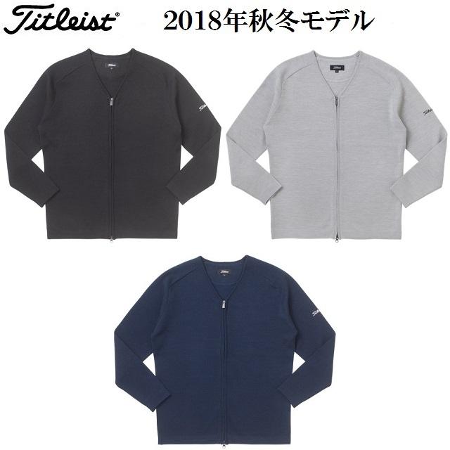タイトリスト ウェア メンズ セーター【Titleist】Vネック フルジップニットカラー:ブラック(BK)カラー:グレー(GY)カラー:ネイビー(NV)素材:ウール50% アクリル50%TWMK1875
