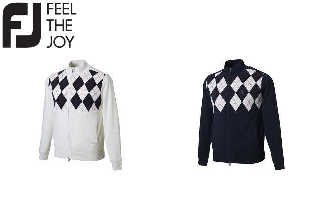 フットジョイ ゴルフ メンズ ウェア セーター【FootJoy】フルジップラインセーターカラー:ホワイト(85964)カラー:ネイビー(85965)FJ-F18-M12ラッキーシール対応