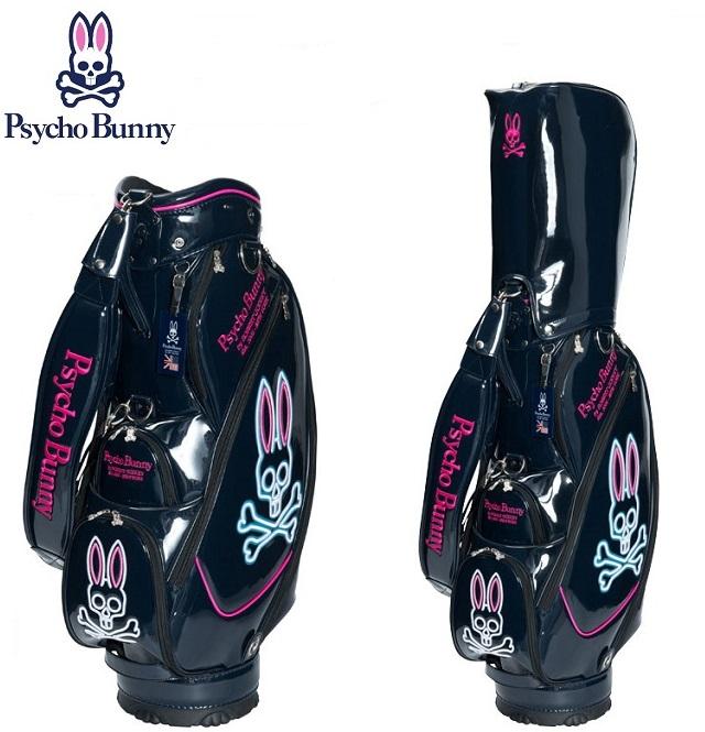 サイコバニー ゴルフ キャディバック【Psycho Bunny】A/A FLAG NEON キャディバッグカラー:ネイビー(30)沖縄県/離島への発送は、別途2,160円送料を請求時に加算させて頂きます。予めご了承ください。PBMG7FC1送料無料ラッキーシール対応