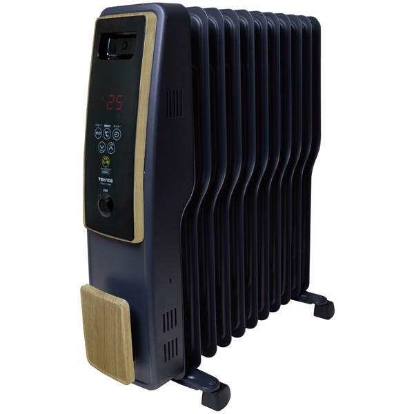 テクノス オイルヒーター 11枚フィン デジタル表示 木目調 TOH-D1110NB