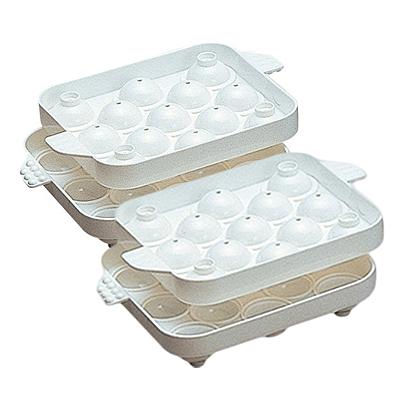 ご家庭のフリーザーで簡単にまんまるのかわいい氷が作れます♪ seiei セイエイ まるまる氷(小)本体2個セット 010666