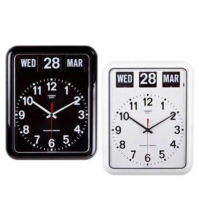 開店祝い シンプルでおしゃれなパタパタカレンダー時計 オーパーツ トゥエンコ 掛け時計 35%OFF プレゼント レトロ インテリア BQ-12A