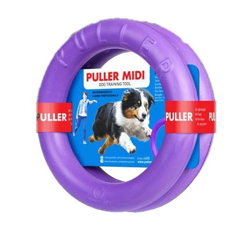 受注生産品 欧米で大人気のドーナッツ型ドッグトレーニング玩具 プラー ミディ 中 ドッグトレーニング玩具 PULLER 品質検査済 Midi