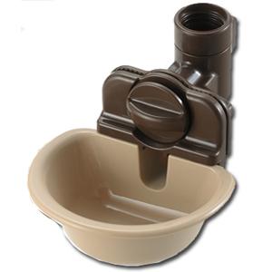 リッチェル ペット用ウォーターディッシュ ブラウン S 給水器 〔お皿型 爆買い新作 犬猫用〕 誕生日/お祝い