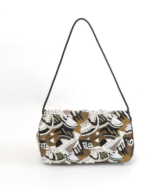 【アウトレット】【送料無料】JAMIN PUECHジャマンピュエッシュ3WAY ビーズ刺繍バッグ