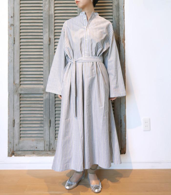 【アウトレット】【送料無料】2019SSCristaSeyaクリスタセヤSTRIPED MAXI SHIRT DRESS