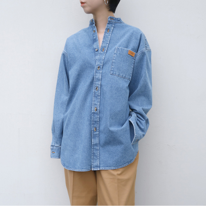 【送料無料】2019AWCristaSeyaクリスタセヤJAPANESE BLEACHED DENIM MAO SHIRT