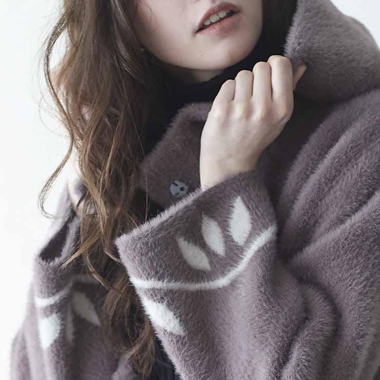 【 送料無料 】 リーフ模様コート ■ コート コート ロング ロング丈 レディース 春 夏 秋 冬 送料込み