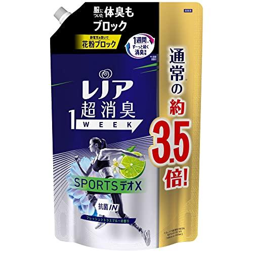 レノア 新登場 超消臭1WEEK 柔軟剤 SPORTSデオX 約3.5倍 詰め替え スーパーSALE セール期間限定 フレッシュシトラスブルー