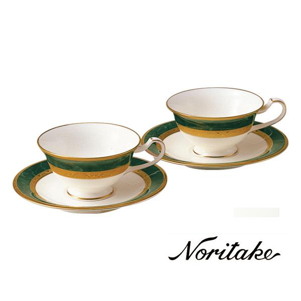 【ノリタケ】≪フィッツジェラルド≫ティー・コーヒー碗皿ペアセットペア碗皿 内祝い お返し 出産内祝い 結婚お祝い 結婚内祝い 母の日 父の日 誕生日プレゼント コーヒーペアセット 記念品
