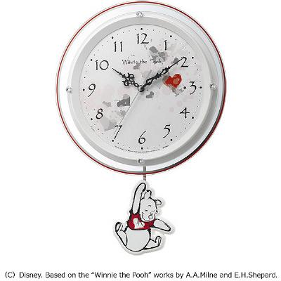 リズム時計工業 Disney ディズニー 電波壁掛け時計くまのプーさん振り子時計 電波時計ギフト 出産内祝い 出産お祝い 結婚お祝い 結婚内祝い 新築お祝い 内祝い お返し プレゼント 誕生日 記念品 記念日