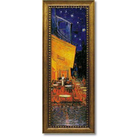ミュージアムシリーズ ゴッホ「夜のカフェテラス」インテリア 壁掛け 額入り 額装込 風景画 油絵 ポスター アート アートパネル リビング 玄関 モダン アートフレーム おしゃれ 飾る 内祝い お返し プレゼント 誕生日 記念品 記念日