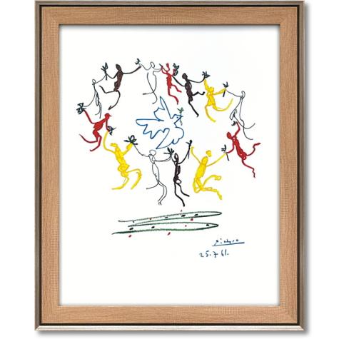 パブロ ピカソ「輪舞」インテリア 壁掛け 額入り 額装込 風景画 油絵 ポスター アート アートパネル リビング 玄関 モダン アートフレーム おしゃれ 飾る 4Lサイズ 内祝い お返し プレゼント 誕生日 記念品 記念日