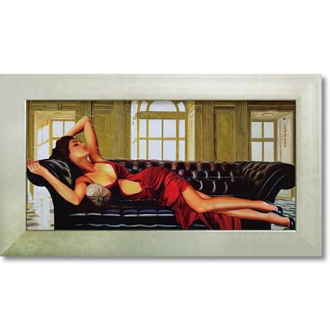 ピエール ベンソン「ディバイン」インテリア 壁掛け 額入り 額装込 風景画 油絵 ポスター アート アートパネル リビング 玄関 モダン アートフレーム おしゃれ 飾る 4Lサイズ 内祝い お返し プレゼント 誕生日 記念品 記念日