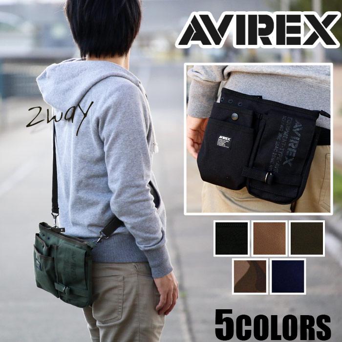 ≪ポイント5倍≫ ウエストバッグ AVIREX EAGLE アヴィレックス アビレックス イーグル ミリタリー ブランド ショルダーバッグ ウエストポーチ ヒップバッグ ヒップバック 2way メンズ レディース AVX342L