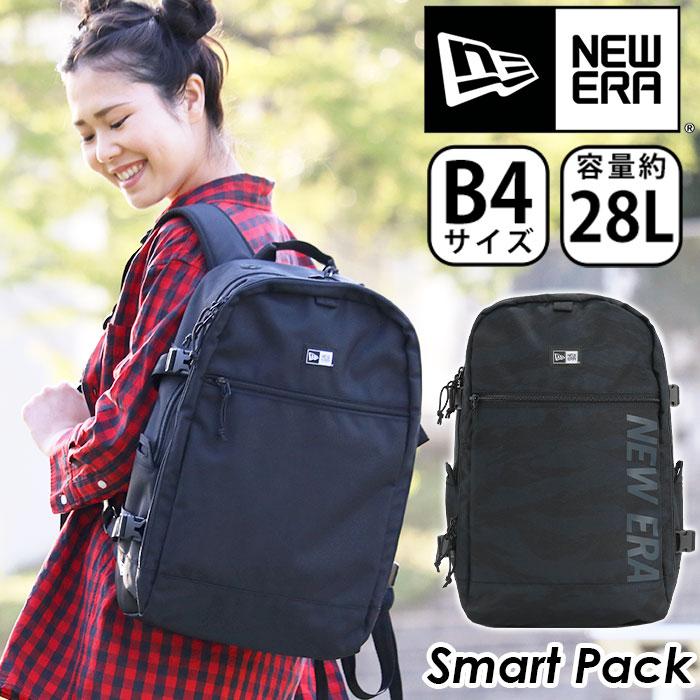 NEW ERA ニューエラ リュック 正規品 リュックサック デイパック バックパック レディース 女性 女の子 A4 B4 28L スクエア型 スクエアリュック タブレットPC収納 大容量 通勤 通学 大人 学生 旅行 スマートパック Smart Pack