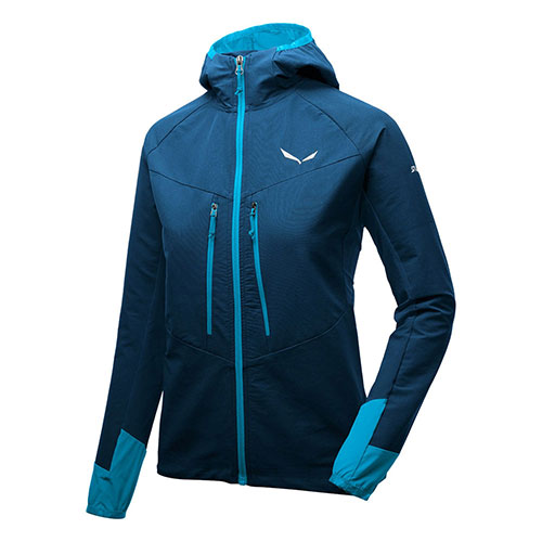 【送料無料】サレワ SALEWA AGNER DURASTRETCH ENGINEERED SOFTSHELL WOMENS JACKET / ブルー品番:26933【夏山セール 2018/7/12 15:00~7/17 9:59】