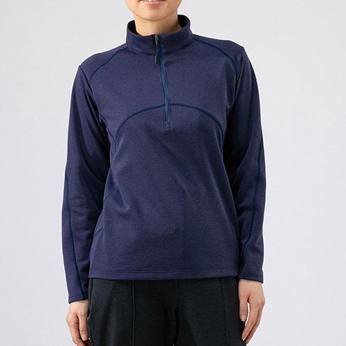ミズノ MIZUNO ブレスサーモ ライトインナージップシャツ レディース / アストラルオーラブルー品番:B2MA9766