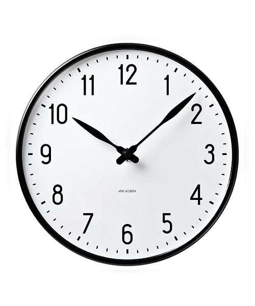 ARNE JACOBSEN Wall Clock Station 210mm(43633 210mm)
