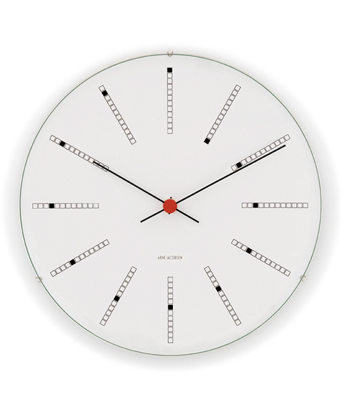 ARNE JACOBSEN Wall Clock Bankers 210mm(43630 Bankers 210mm)