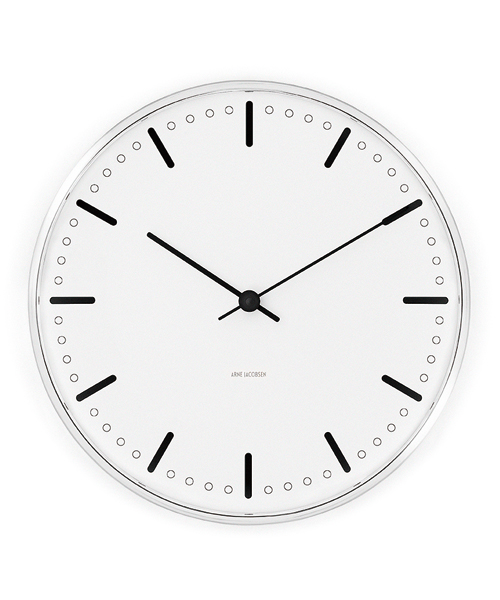 ARNE JACOBSEN Wall Clock CityHall 290mm(43641 290mm)