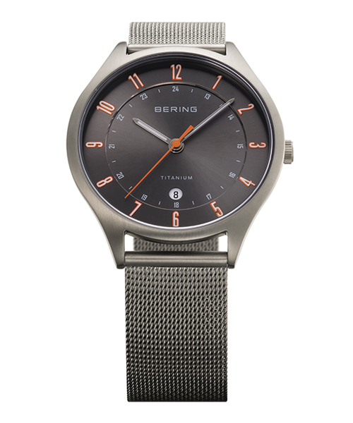 BERING Mens Air Titanium 11739-379(11739-379 グレー×オレンジ)