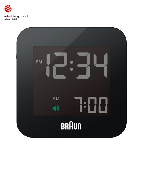 BRAUN Digital Clock BNC008(BNC008BK-RC)