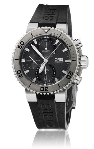 ORIS/オリス【ダイビング】アクイス チタン クロノグラフ 67476557253R