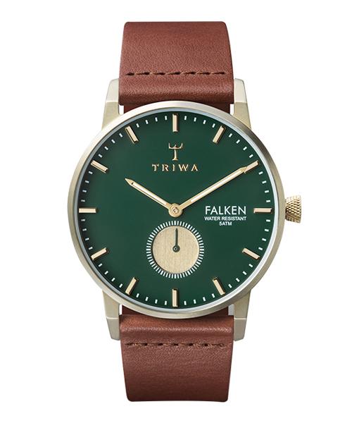 TRIWA WATCH FALKEN PINE(FAST112-CL010217 グリーン×ゴールド×ブラウン)