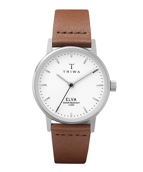 TRIWA ELVA PEARL BROWN CLASSIC(ELST101-EL010212 ホワイト×シルバー×ブラウン)