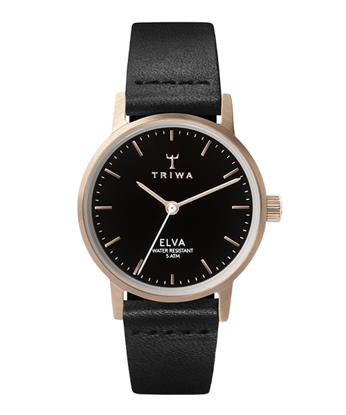 TRIWA ELVA ROSE BLACK CLASSIC(ELST102-EL010114 ブラック×ローズゴールド)